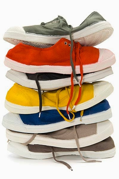 Canvas shoes in a rainbow of colors