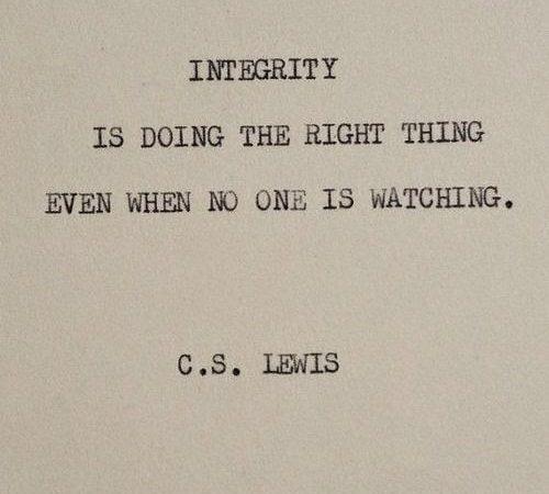 Thoughtful Sunday – Integrity