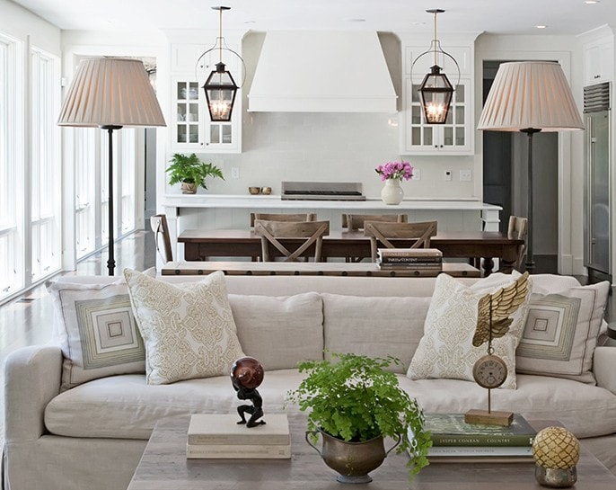 lantern kitchen island pendant lighting neutral home white kitchen design