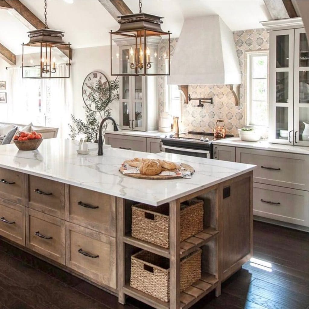 Lantern Twins Over Island Pottery Barn Reproduction Pendant Lighting White Farmhouse Kitchen Joanna Gaines