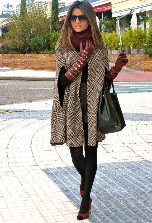 plaid cape poncho classic fall fashion