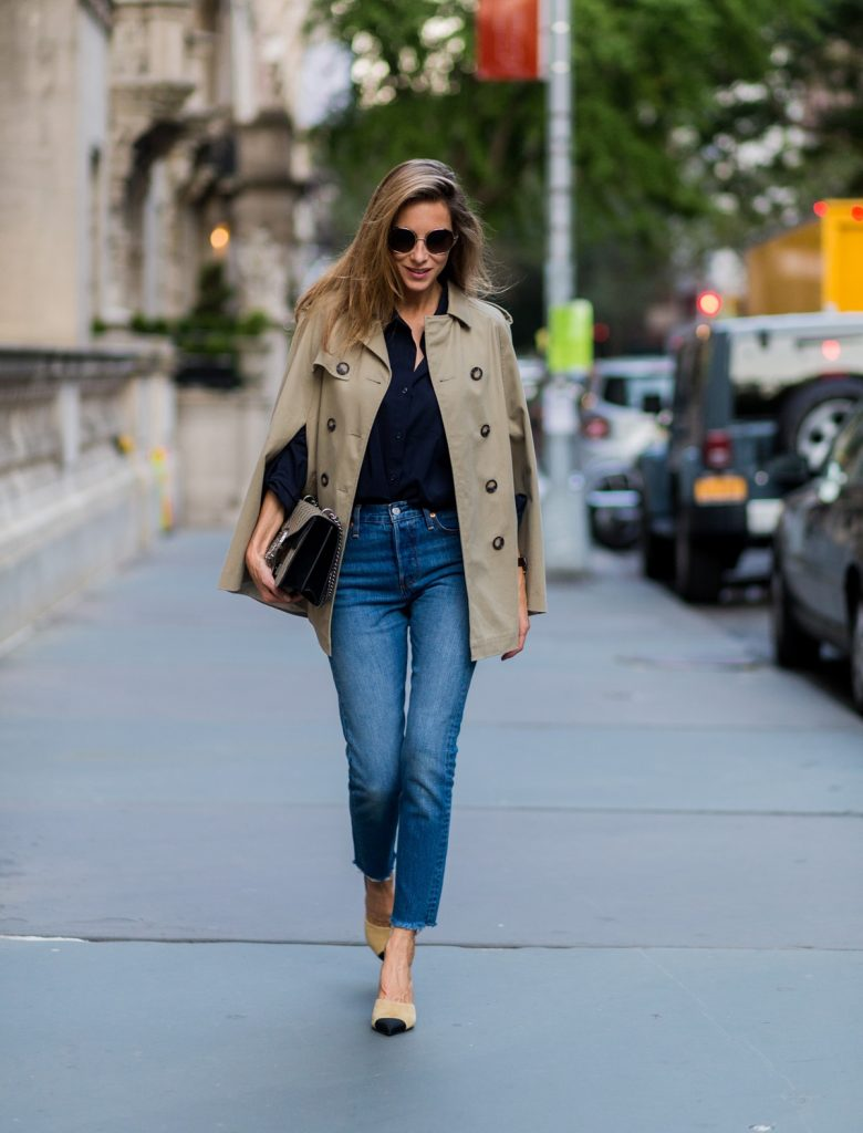 trench cape fall trends street fashion denim