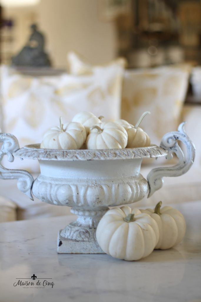 white pumpkins antique french urn gorgeous french country fall decor