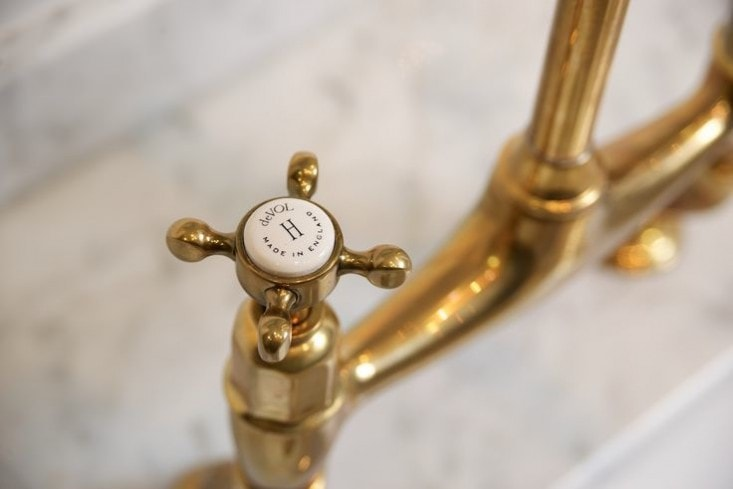 brass hardware trend Perrin and Rowe faucet