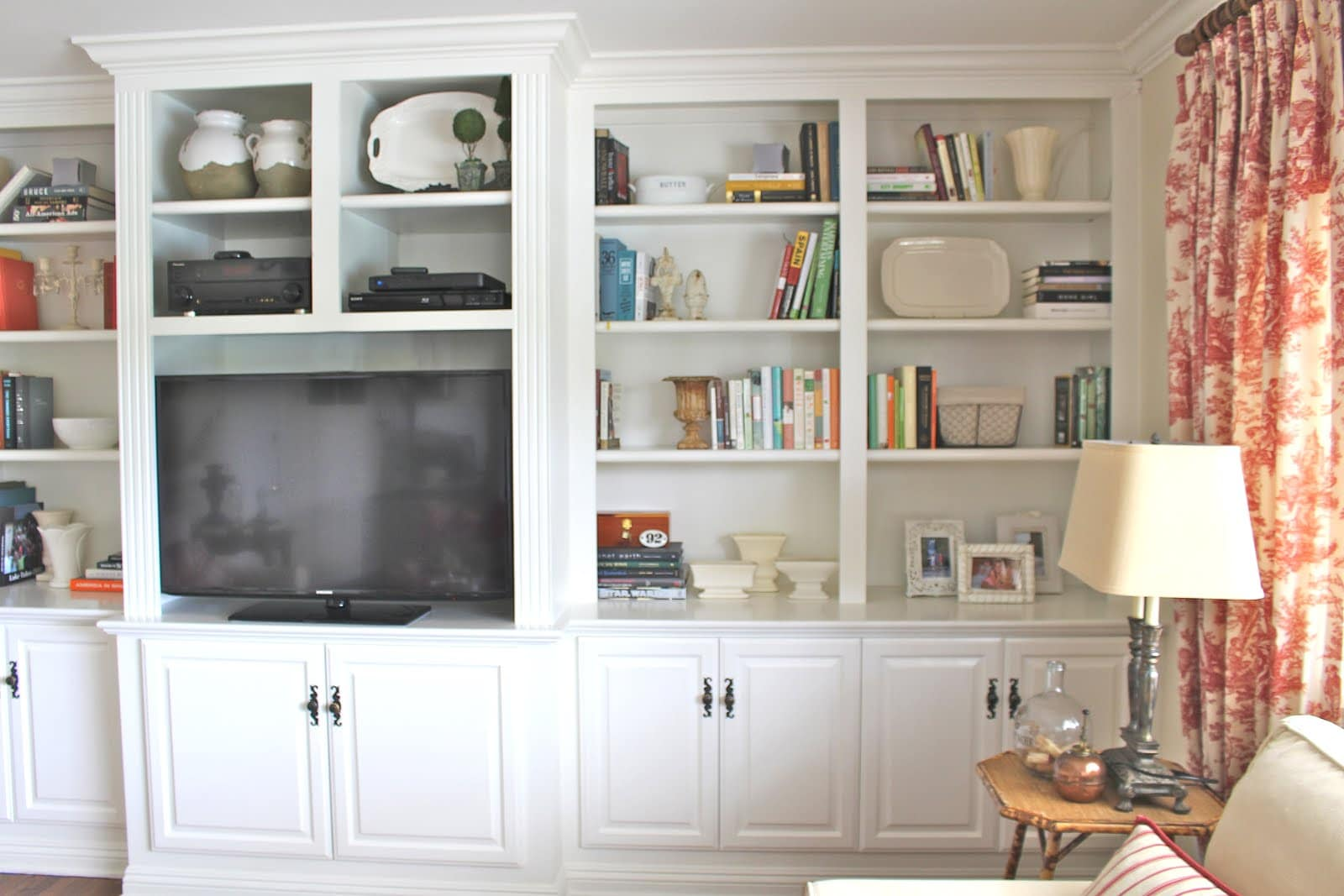 Family Room Built-Ins Rearrange - How I Pared Down and Simplified