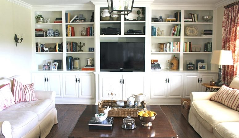 Family Room Built-Ins Rearrange
