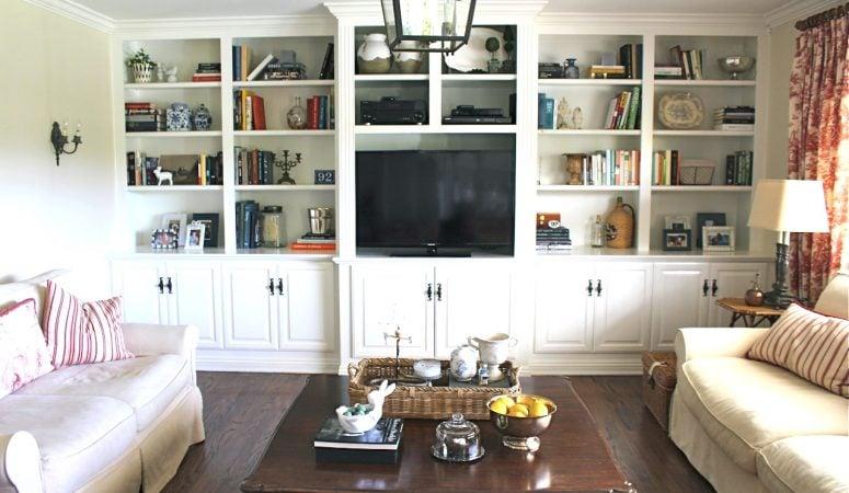 Family Room Built-Ins Rearrange