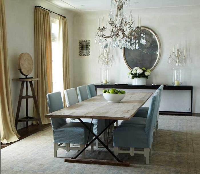 neutral rooms touch of blue spare gorgeous french country dining room