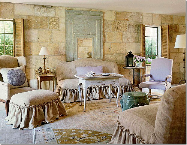 neutral rooms touch of color greens and lavender gorgeous french country room