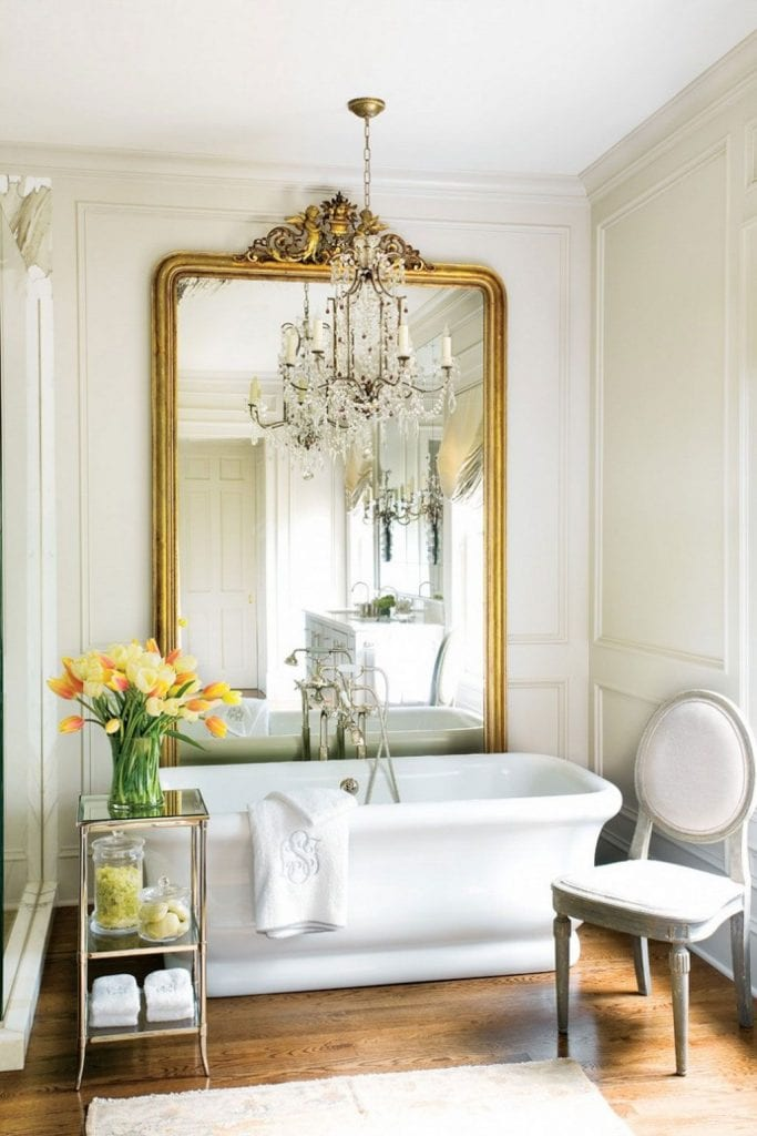 Antique Mirrors In A Bathroom Adding