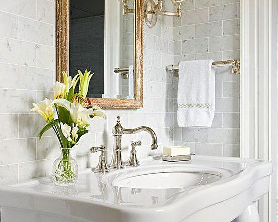Friday Favorites – Antique Mirrors in a Bathroom