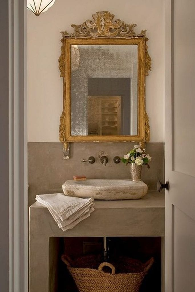 antique mirrors bathroom gold mirror over stone sink gorgeous french farmhouse style
