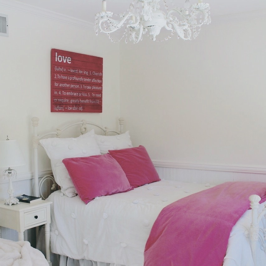 From Toddler to Teen: Teen Girl Room in Pink and White