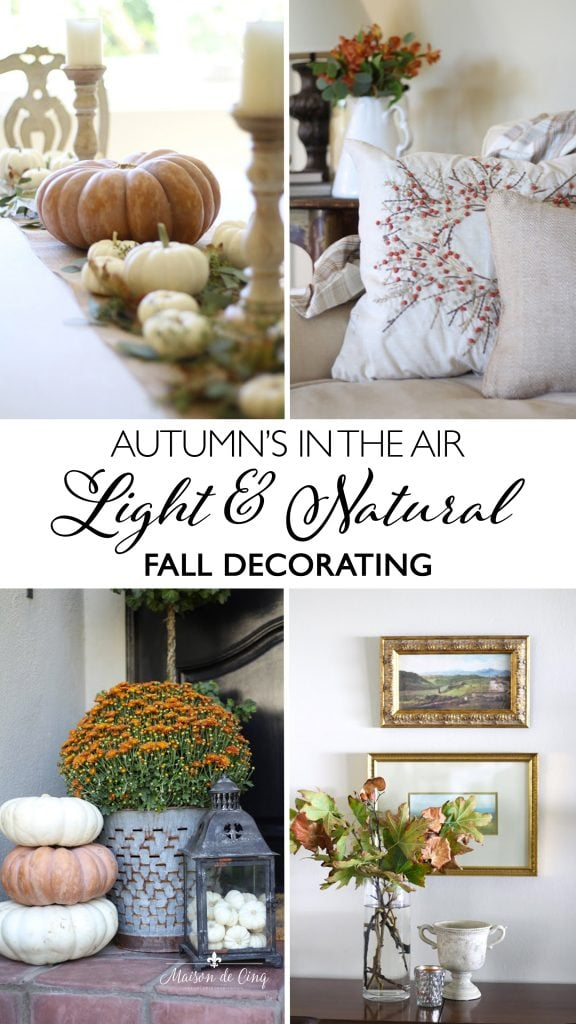 fall home tour banner natural fall decorating ideas