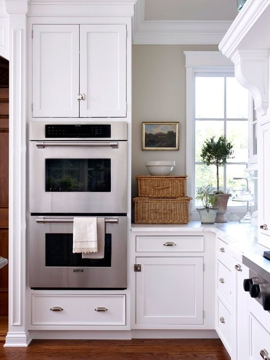 art in the kitchen baskets white kitchen cabinets wall ovens