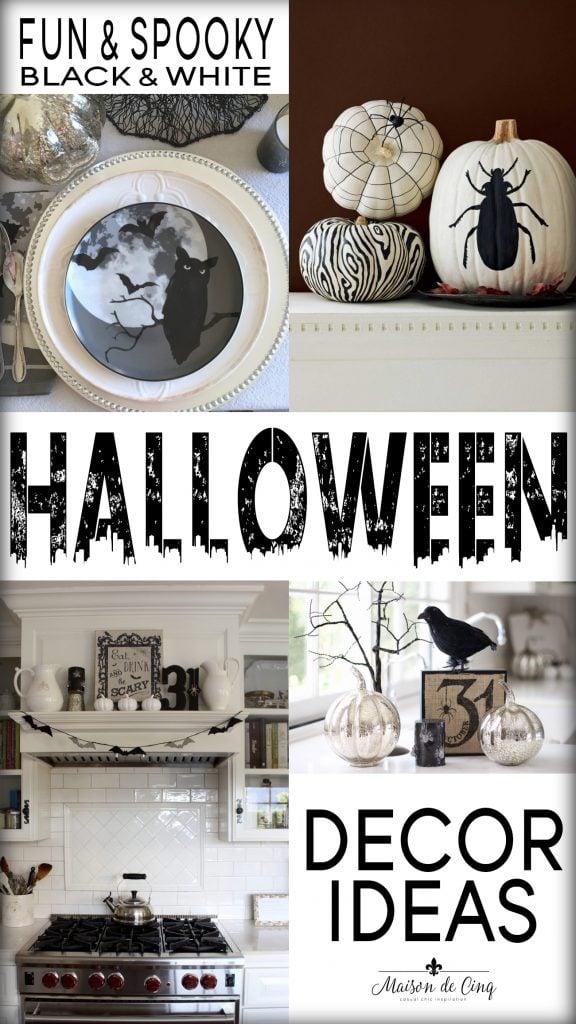 black and white halloween decor ideas on maison de cinq fun spooky cute decor