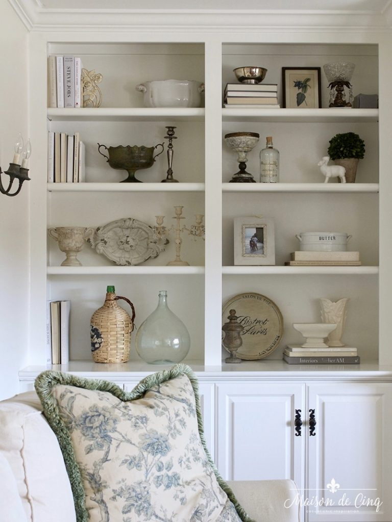 re-styled book shelves how to decorate built-ins top ten posts