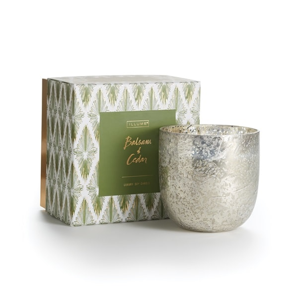 best holiday scented candles illume balsam and cedar