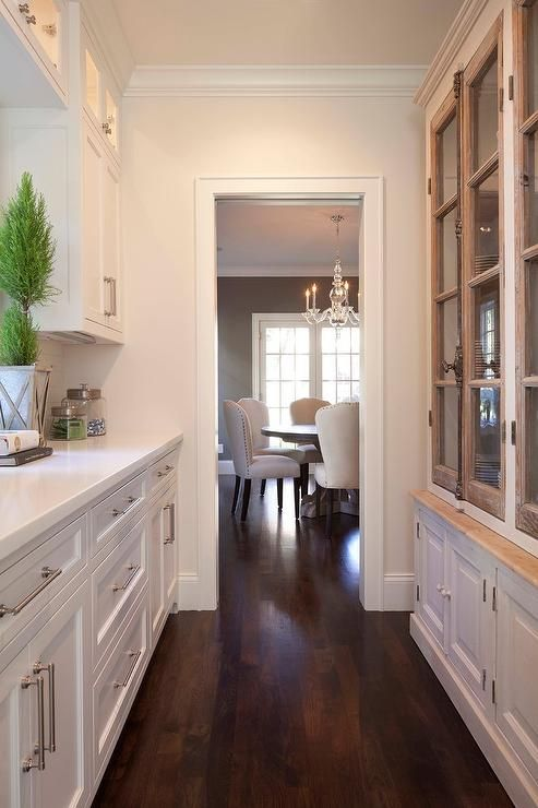 white-kitchen-butlers-pantry charming wood and white cabinets french country farmhouse