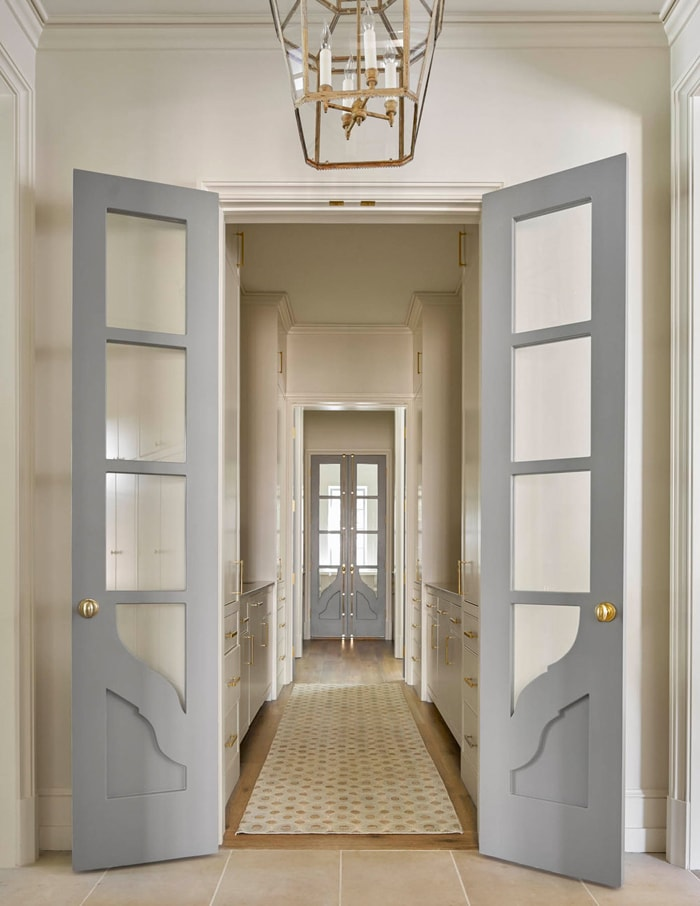 gorgeous doors leading to butler's pantry french farmhouse country style