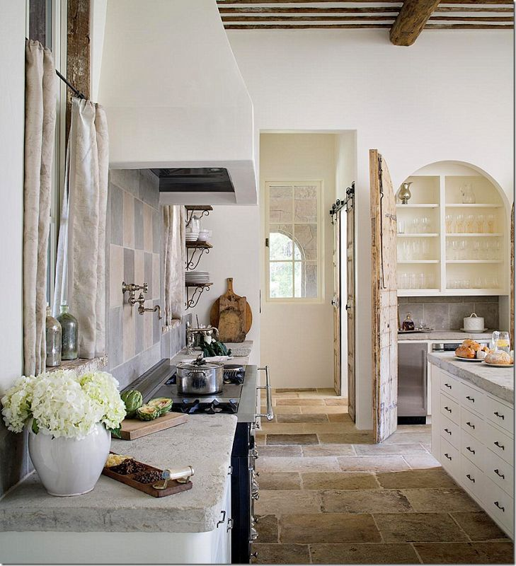 french farmhouse kitchens white with wood accents beams custom range hood