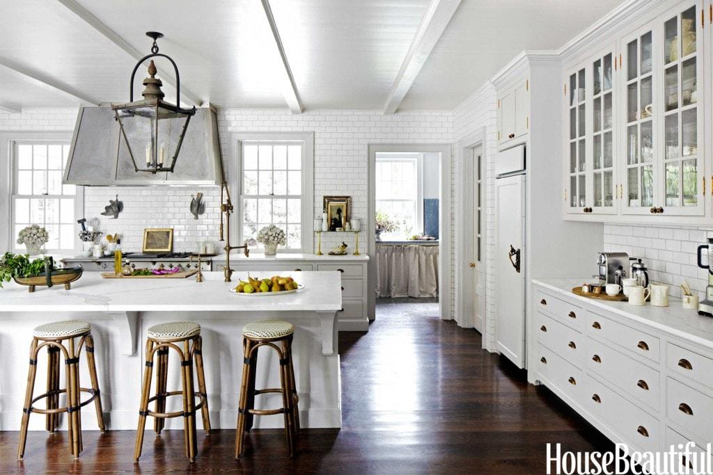 french farmhouse kitchens white marble stunning zinc range hood antique lantern