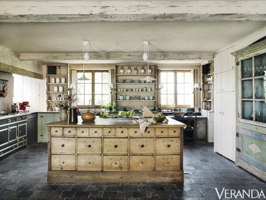 french farmhouse kitchens stunning antique island open shelves french country style