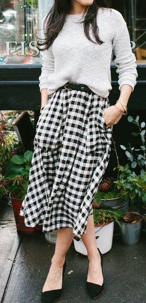 gingham-skirt