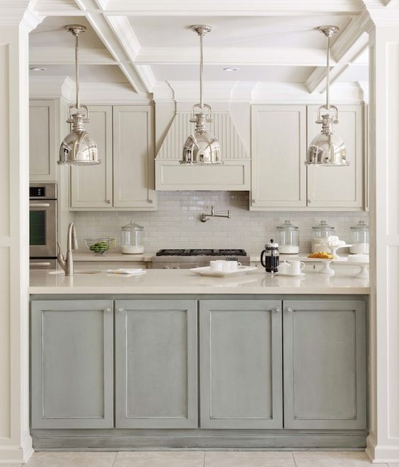 grey-and-white-kitchen-green-island