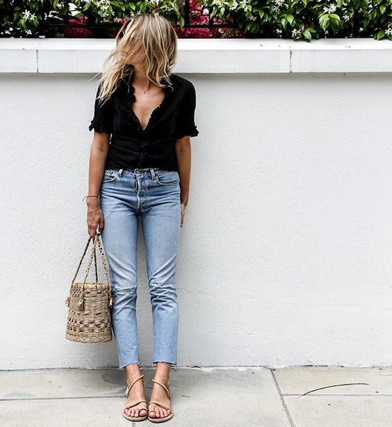 straw-bag-with-denim-black-top