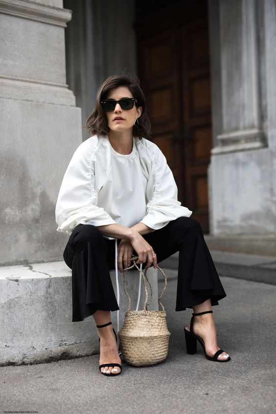 straw-bag-chic-black-and-white-outfit