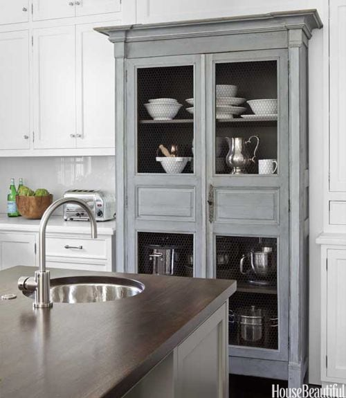 grey-and-white-kitchen-antique-armoire