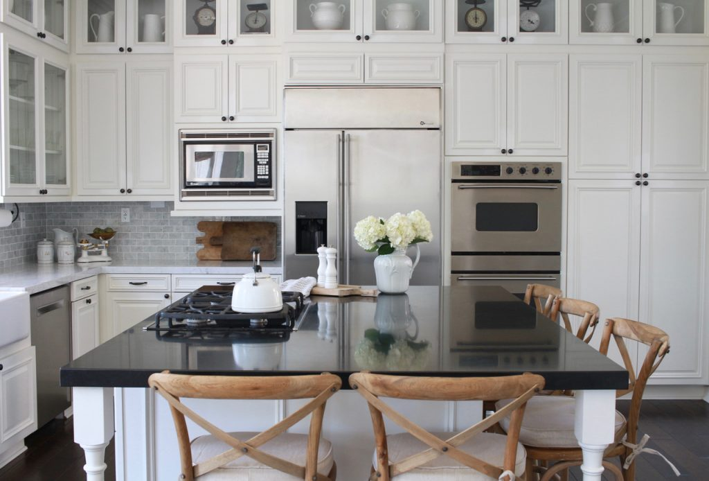 black and white farmhouse kitchen gorgeous remodel
