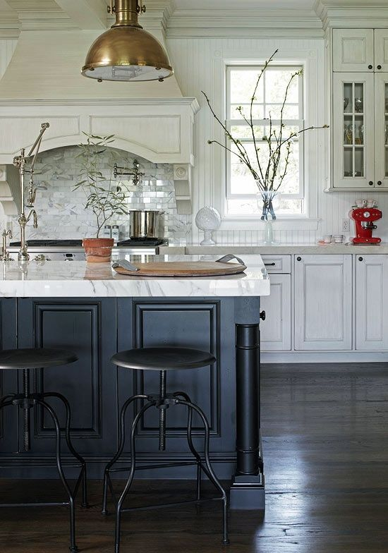 black and white kitchen inspiration 1 - Black Kitchen Island