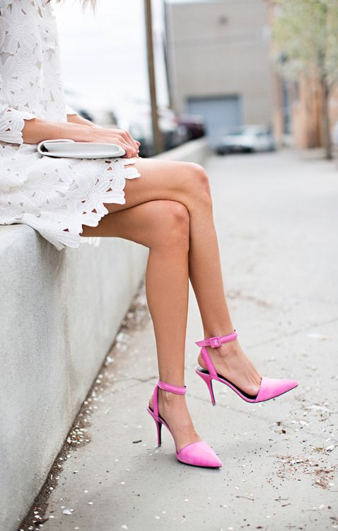 pink-accessories-heels-white-dress