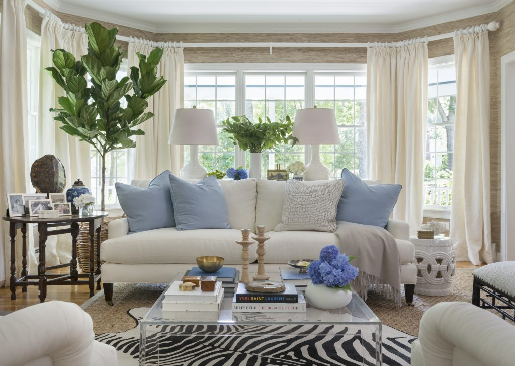 decorating-with-animal-hides-blue-and-white-living-room