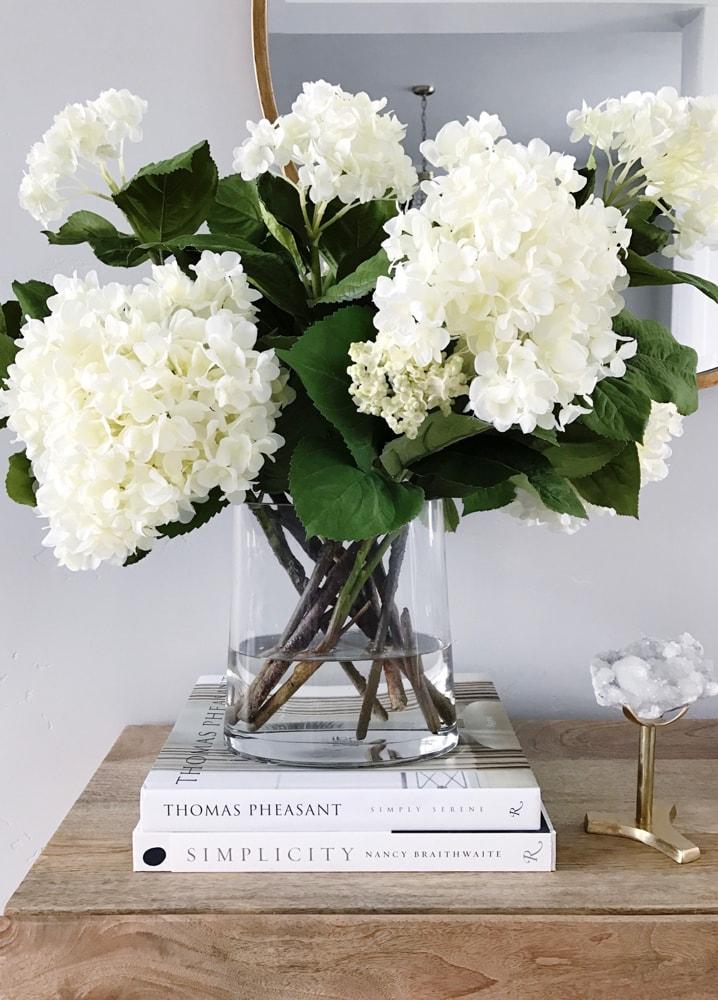 Decorating With White Hydrangeas My Favorite Flower