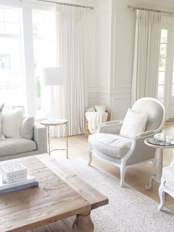 bergere chair white family room