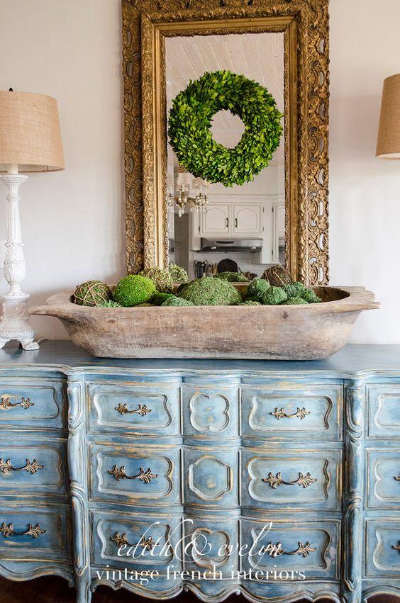 dough bowls moss balls christmas decor