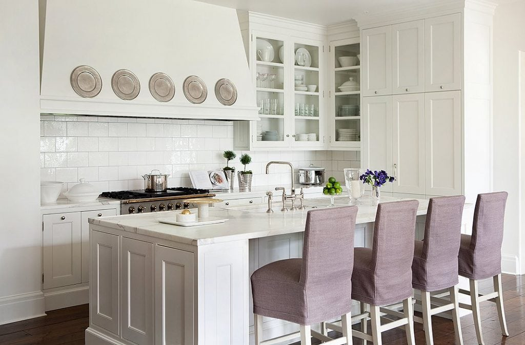 decorating with pewter plates white kitchen range hood