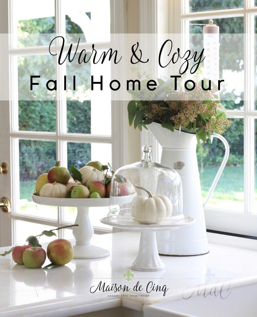 warm cozy fall home tour fall decor gorgeous vignette flowers pumpkins