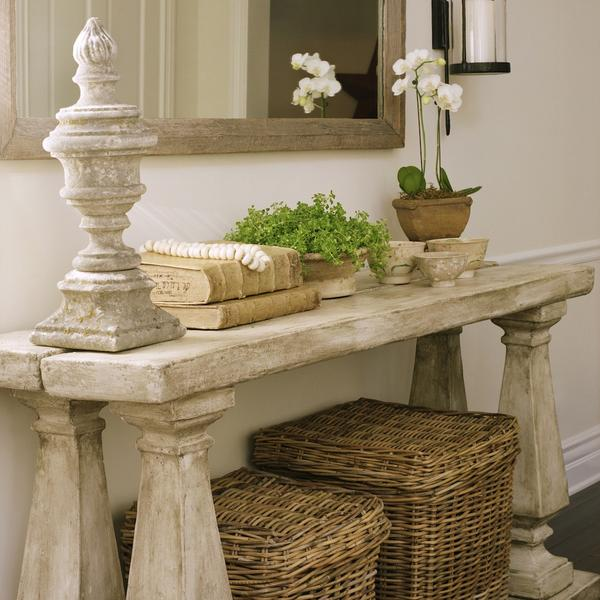 vintage baskets console table urn gorgeous entry way decor