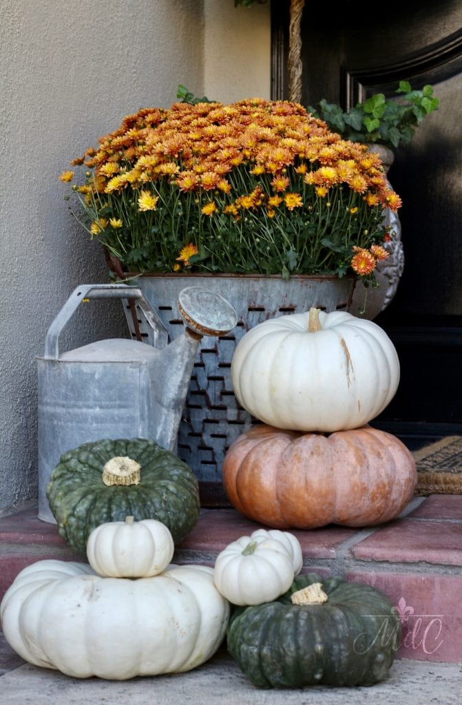 warm and cozy fall home tour porch decor pumpkins mums fall inspiration