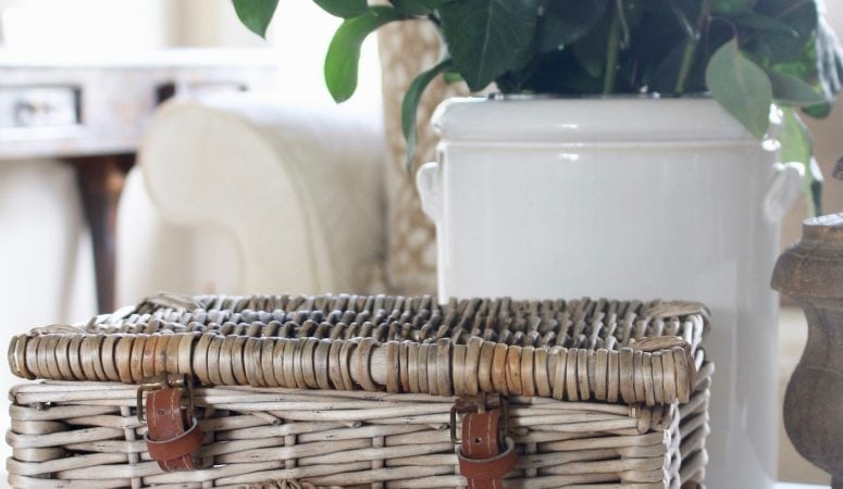 Vintage Baskets and Charming Ways to Display Them