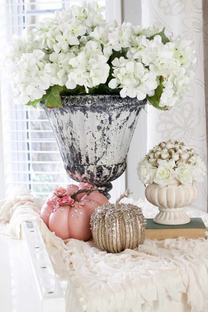 Autumn's in the Air Fall Home Tours styled with lace