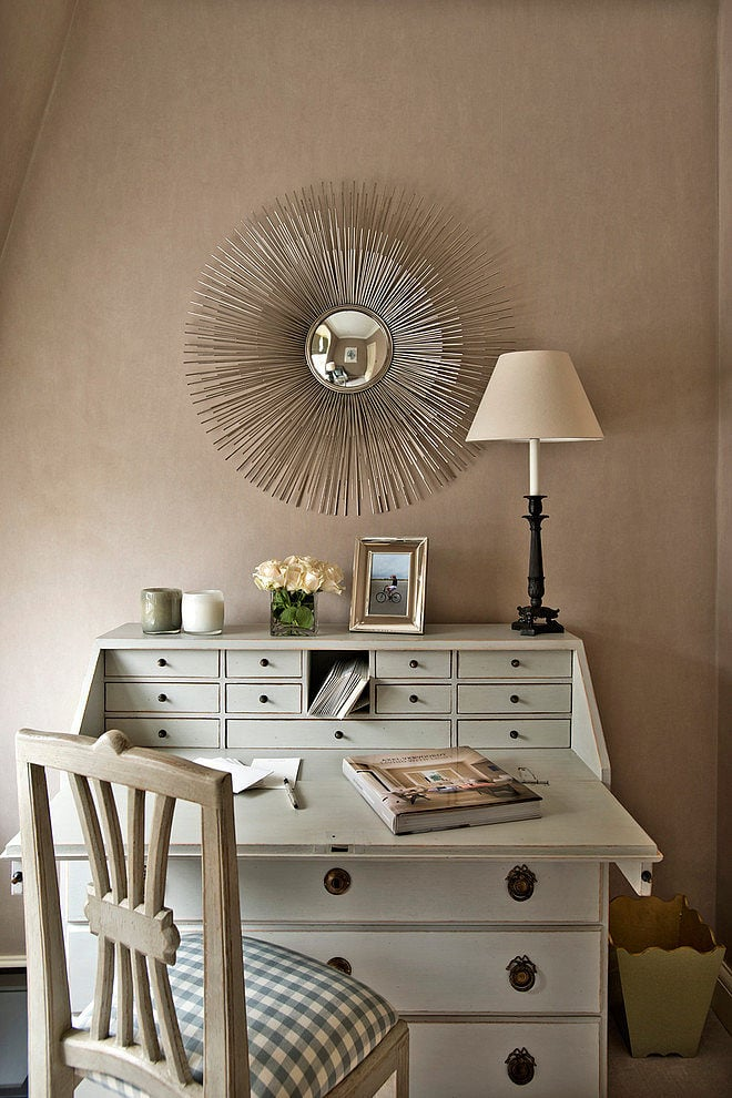 French desk in gorgeous home office