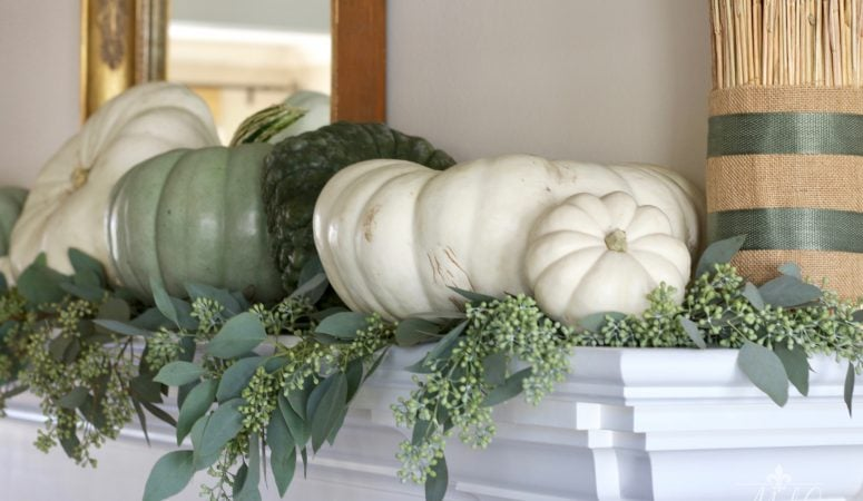 Creating a Simple and Neutral Fall Mantel