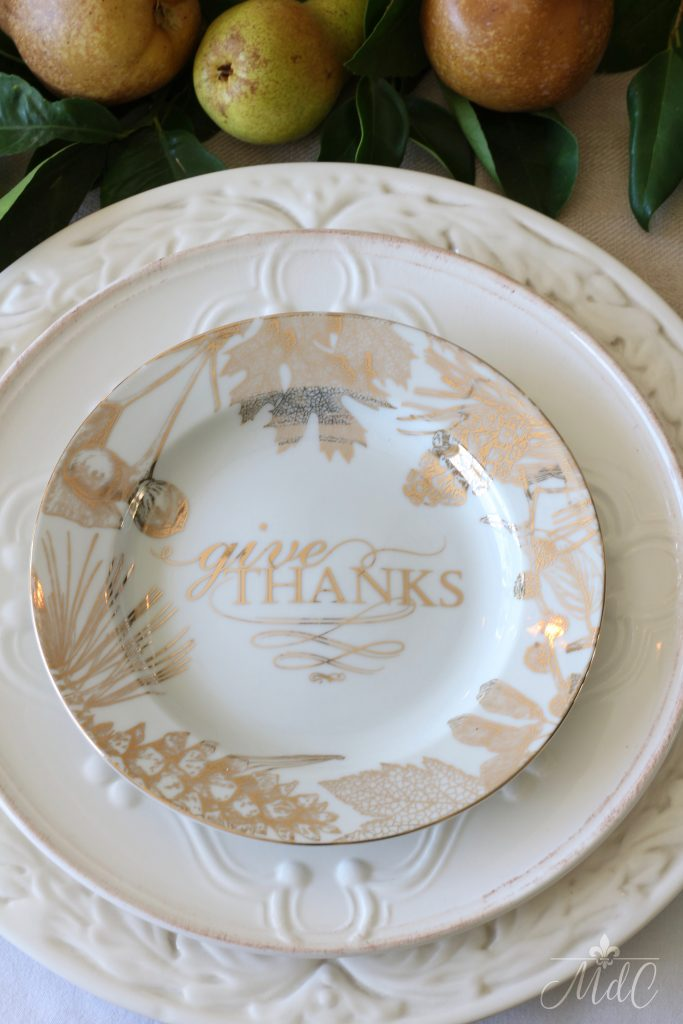 thanksgiving table give thanks plates home goods