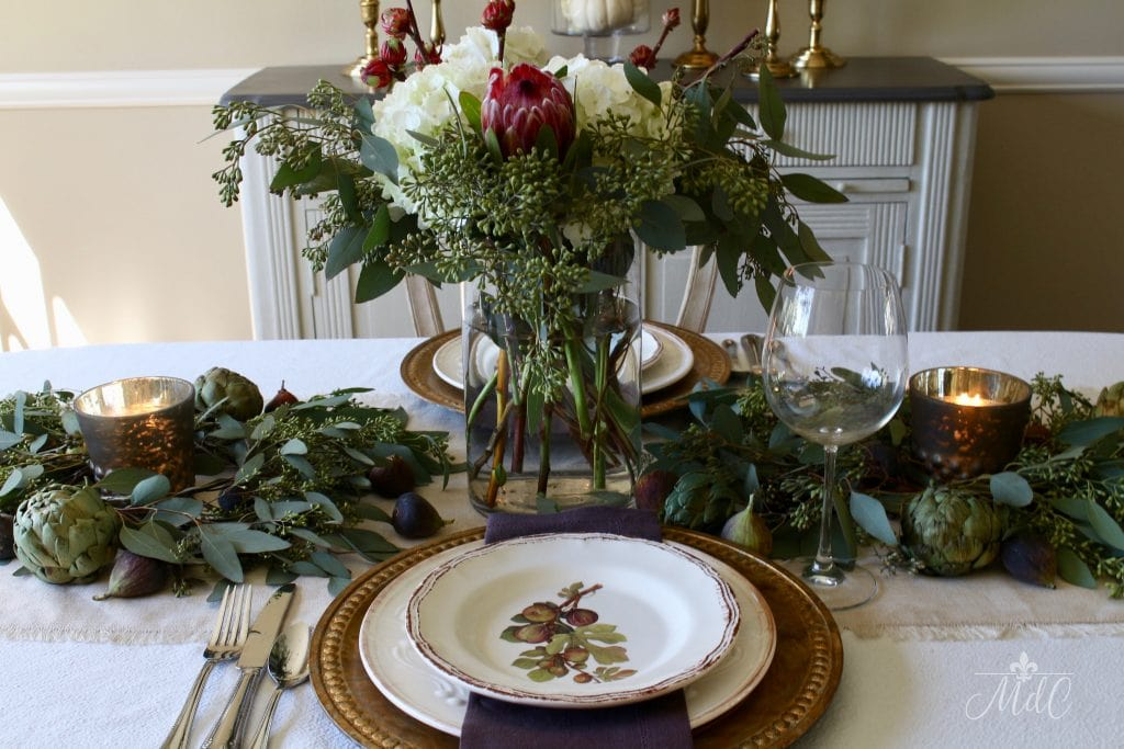 Warm And Wonderful Thanksgiving Table With Figs Amp Artichokes