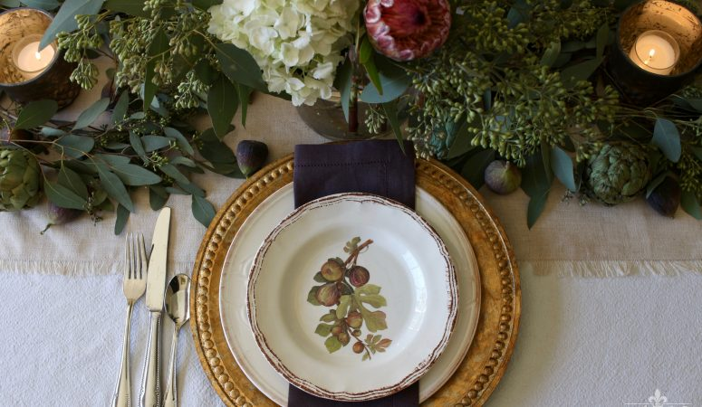 Warm & Wonderful Thanksgiving Table with Figs & Artichokes